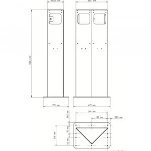 KEBA Standsäule (triangel)