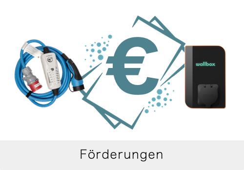 Förderungen für E-Autos, Wallbox, Ladestation