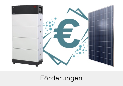 Förderungen Photovoltaik & Speicher